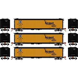 Athearn 97930 HO 50' Ice Bunker Reefer Santa Fe/The Scout (3)