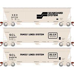 Athearn 12934 N ACF 4600 3-Bay Centerflow Hopper Seaboard Coast Line SCL /SBD (3)