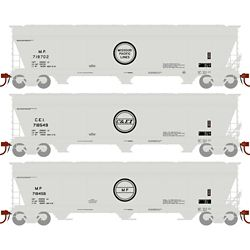 Athearn 12937 N ACF 4600 3-Bay Centerflow Hopper Missouri Pacific MP/Chicago & Eastern Illinios C&EI (3)