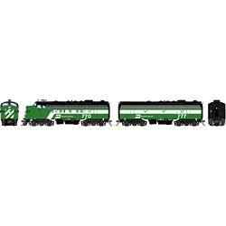 Athearn G19536 HO F9A/F9B w/DCC & Sound Burlington Northern/Dual Service #770/ #777