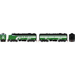 Athearn G19537 HO F9A/F7B w/DCC & Sound Burlington Northern/Passenger #9822/ #9745