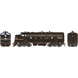 Athearn G19541 HO F7A w/DCC & Sound Penn Central/Freight #1684
