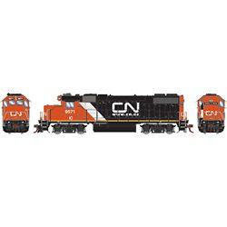 Athearn G68854 HO GP38-2 w/DCC & Sound Canadian National/IC/Website Logo #9571