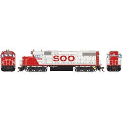 Athearn G68856 HO GP38-2 w/DCC & Sound SOO/White/Red letter #4402