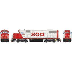 Athearn G68857 HO GP38-2 w/DCC & Sound SOO/White/Red letter #4404
