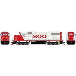 Athearn G68858 HO GP38-2 w/DCC & Sound SOO/White/Red letter #4407
