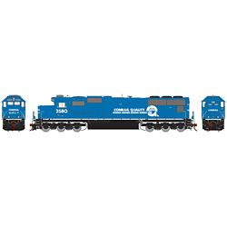 Athearn G70505 HO SD70, NS/Ex CR Patch #2580 ATHG70505