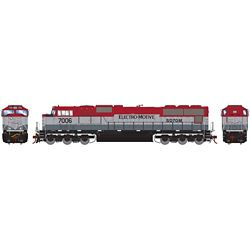 Athearn G70656 HO SD70M w/DCC & Sound EMDX/Maroon/Silver #7006