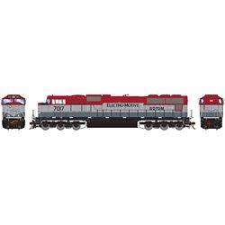 Athearn G70657 HO SD70M w/DCC & Sound EMDX/Maroon/Silver #7017