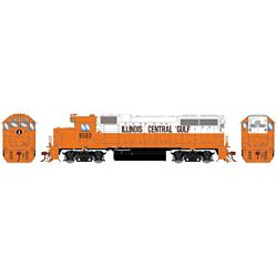 Athearn G71803 HO GP38-2 w/DCC & Sound Illinios Central Gulf/Orange & White #9563