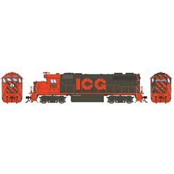Athearn G71806 HO GP38-2 w/DCC & Sound Illinios Central Gulf/Orange & Grey #9568