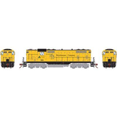 Athearn G78147 HO GP7, Weyerhaeuser/Yellow #765
