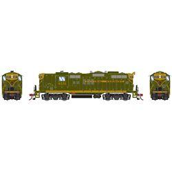 Athearn G78273 HO GP9 w/DCC & Sound CV/Green Gold #4551