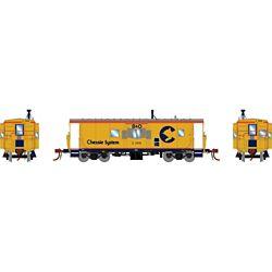 Athearn G78349 HO C-26A ICC Caboose/Light & Sound Chessie/B&O #C-3915