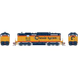 Athearn G82306 HO GP7 w/DCC & Sound Chessie/Baltimore & Ohio B&O #5628
