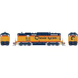 Athearn G82306 HO GP7 w/DCC & Sound Chessie/Baltimore & Ohio B&O #5628