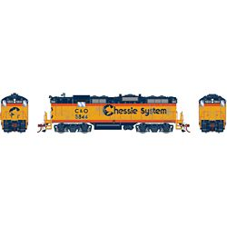 Athearn G82308 HO GP7 w/DCC & Sound Chessie/Chesapeake & Ohio C&O #5844
