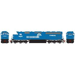 Athearn G86226 HO SD45-2 w/DCC & Sound, CR/Blue Early #6665 ATHG86226