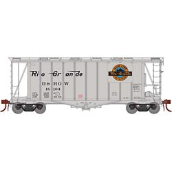 Athearn G87691 HO GATC 2600 Airslide Hopper Denver & Rio Grande Western D&RGW #18104