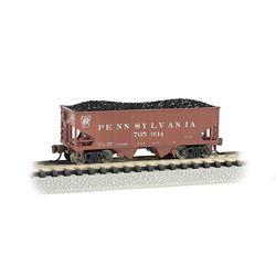Bachmann 19558 N USRA 55-Ton 2-Bay Open Hopper w/ Load Pennsylvania 705934 Tuscan
