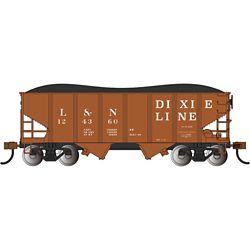 Bachmann 19560 N USRA 55-Ton 2-Bay Open Hopper w/ Load Louisville & Nashville Dixie Line