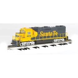 Bachmann 21225 O EMD GP38 Conventional 3-Rail w/Horn & Bell Williams Santa Fe #2372 160-21225