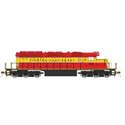 Bachmann 60918 HO EMD SD40-2 w/DCC Florida East Coast #714 Heritage 160-60918