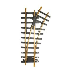 Bachmann 94658 G Code 332 Brass #1100 Manual Turnout Right Hand 4' Diameter 30 Degree Diverging Route 160-94658