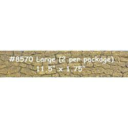 "Chooch 8570 Flexible Sea Wall Sheet Large for HO S & O Scales 3-3/4 x 12"" 9.5 x 30.5cm 214-8570"