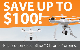 Save up to $100 on CHROMA aerial photography RC quadcopters