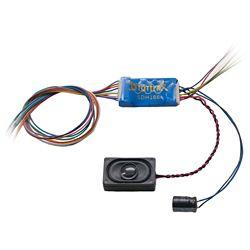 Digitrax SDH166D SDH166D Series 6 Sound & Control Decoder 6 FX3 Functions 8-Bit Sound Wired