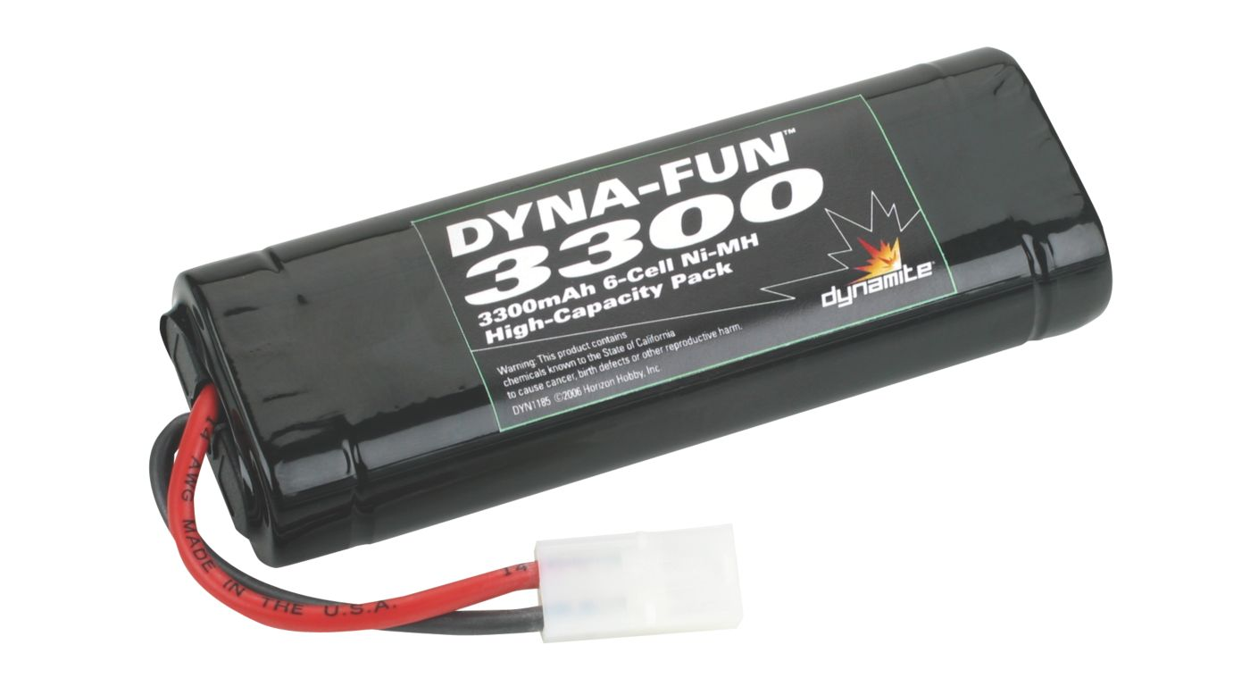 Image for Dyna-Fun 3300 NiMH 6-Cell Flat Battery from HorizonHobby