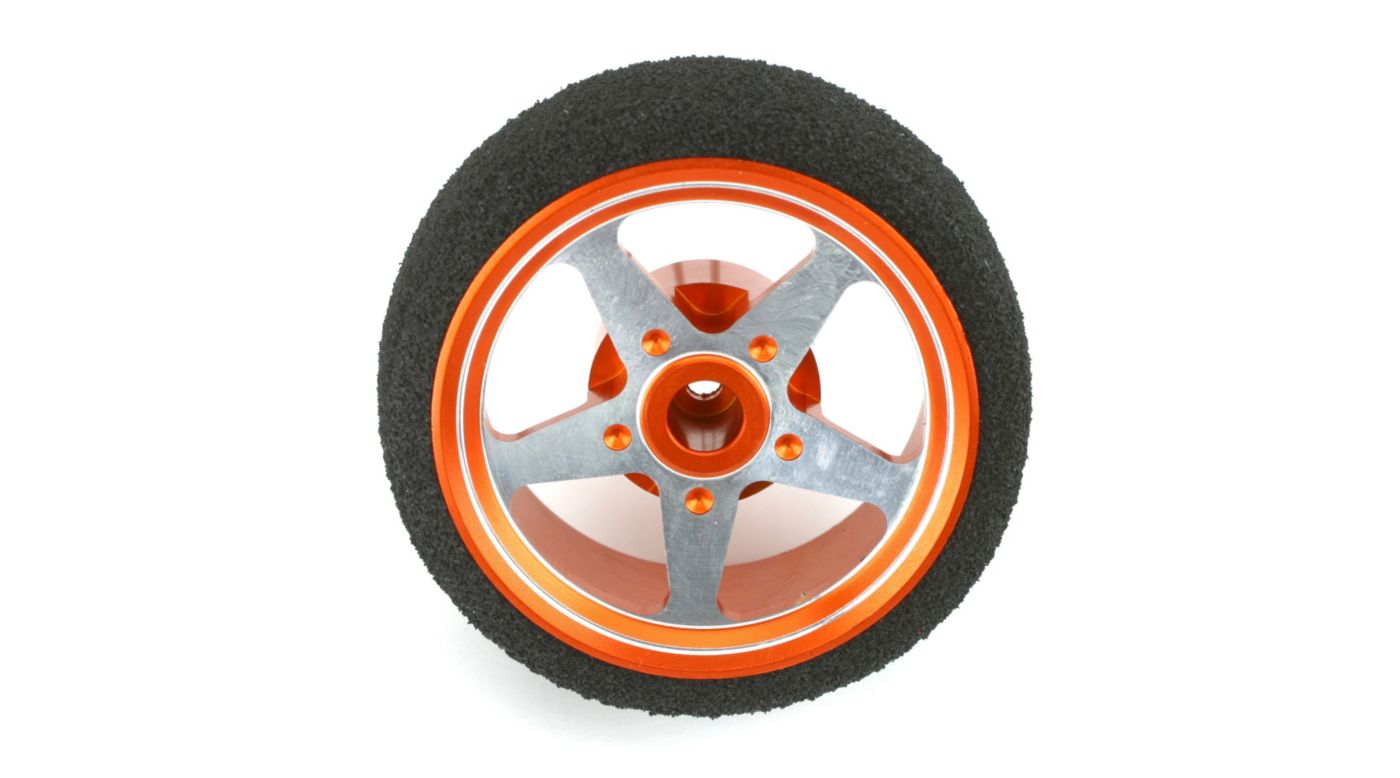 Image for Custom Steering Wheel, 5-Spoke, Orange: DX3S from HorizonHobby