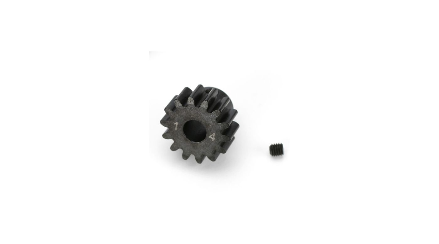 Image for 1/8TH BL Pinion, 14T 5mm Bore, 1MOD from HorizonHobby