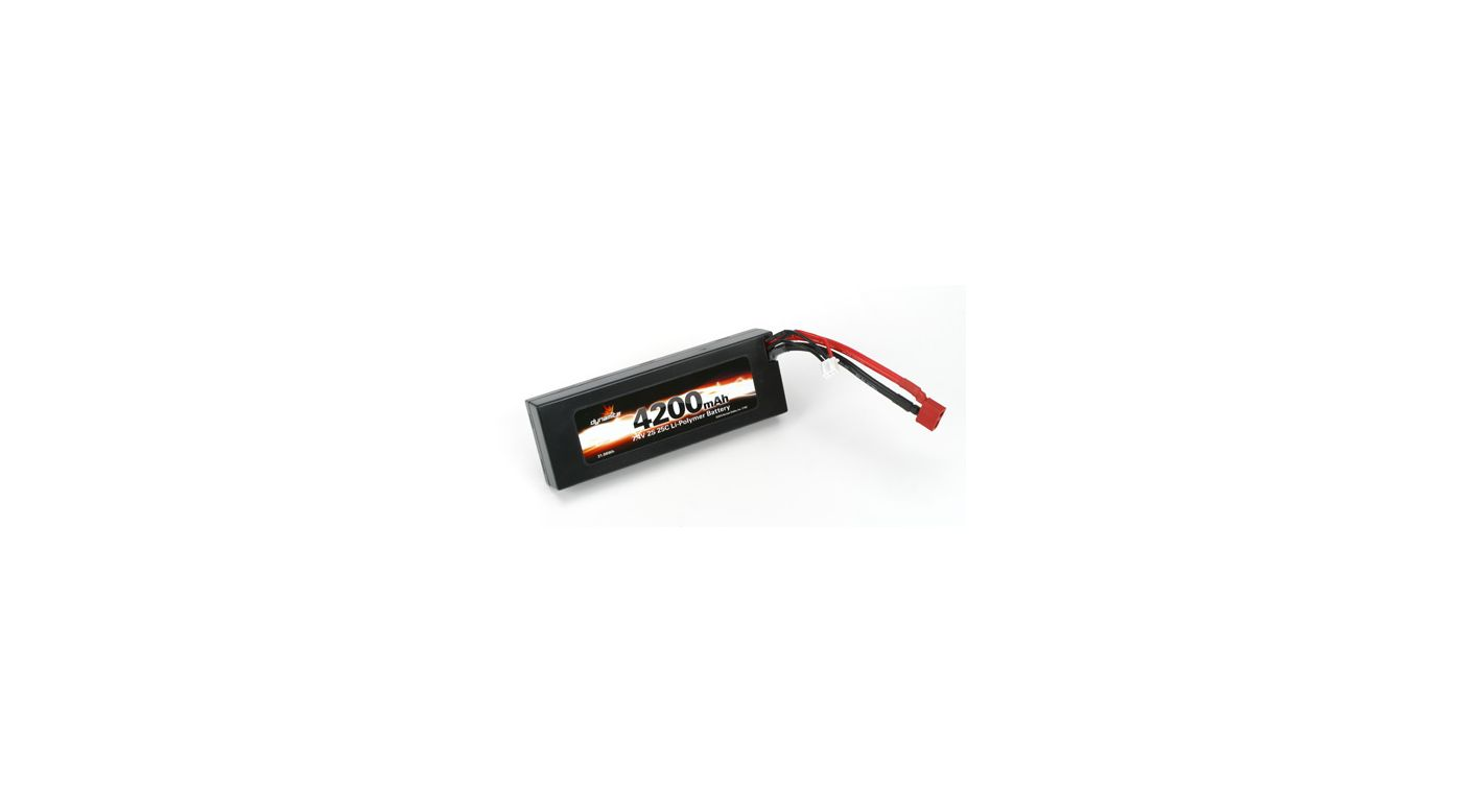 Image for 7.4V 4200mAh 2S 25C Li-Po, Hard Case: Deans from HorizonHobby