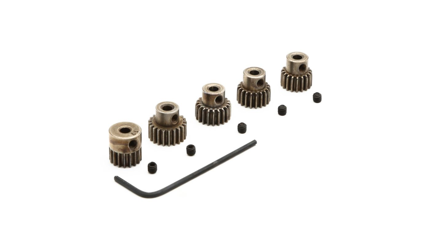 Image for 48P Pinion Gear Set: 17T 18T, 19T, 20T, 21T from HorizonHobby