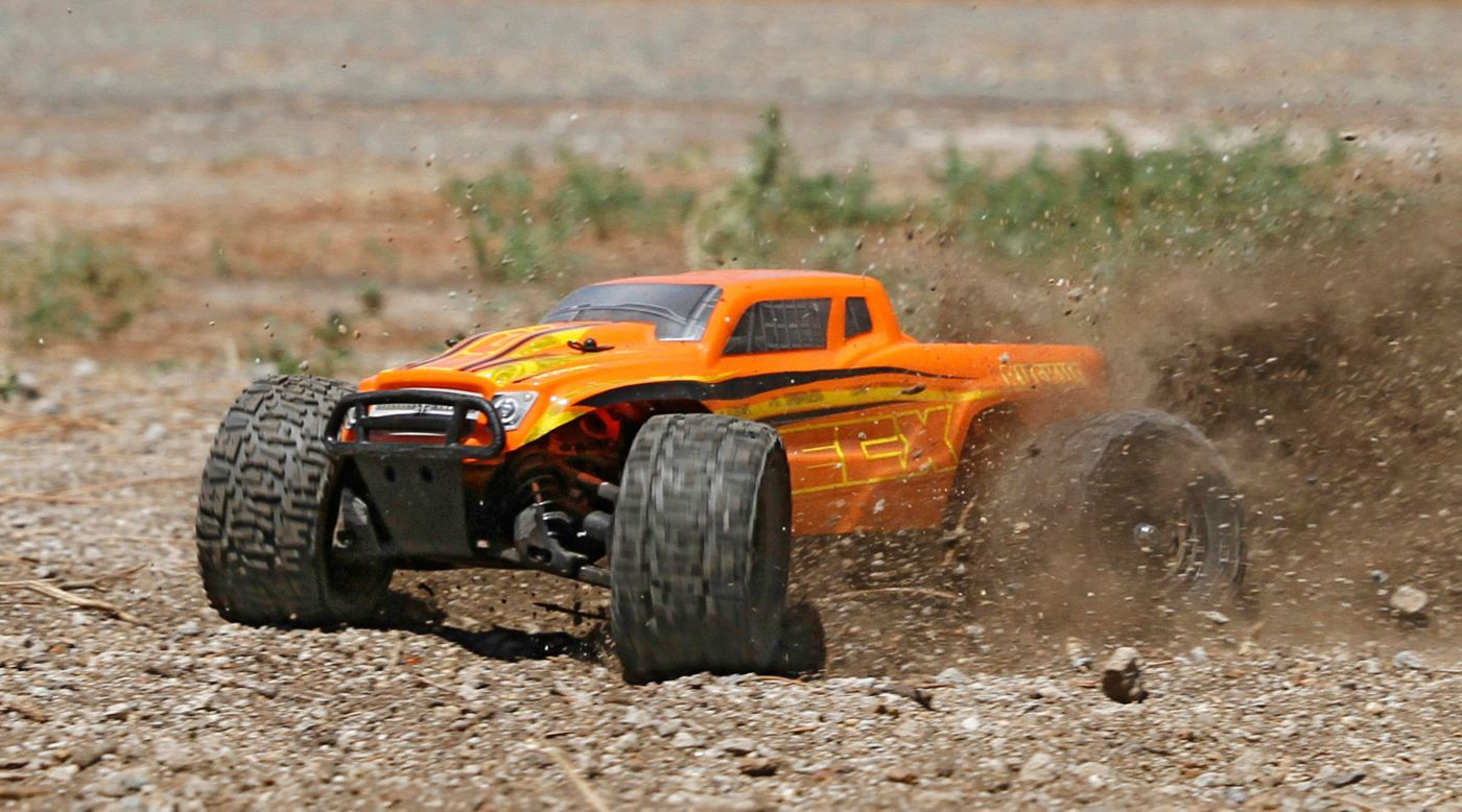image for 1 18 ruckus 4wd monster truck rtr orange yellow from horizonhobby. Black Bedroom Furniture Sets. Home Design Ideas