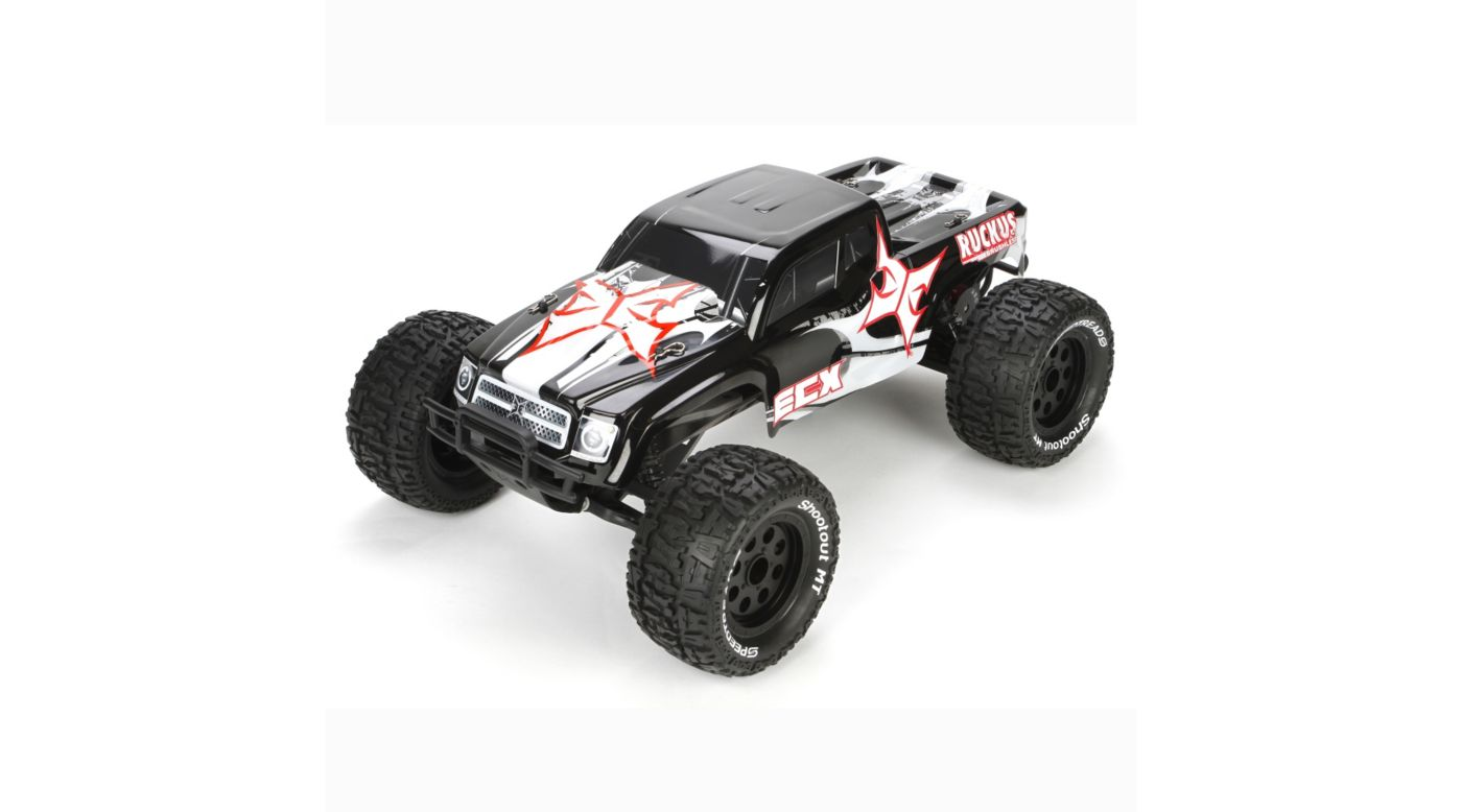 Image for 1/10 Ruckus 2WD Brushless Monster Truck RTR, Black/White from HorizonHobby