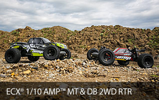 ECX AMP Desert Buggy Monster truck 2WD two wheel drive RTR Ready to Run Build To Drive BTD