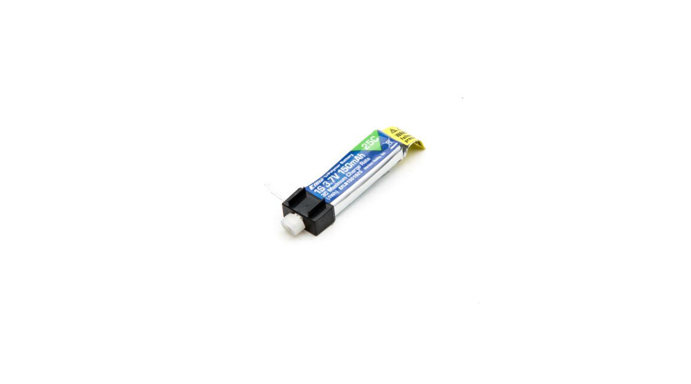 Image for 150mAh 1S 3.7V 25C LiPo Battery from HorizonHobby