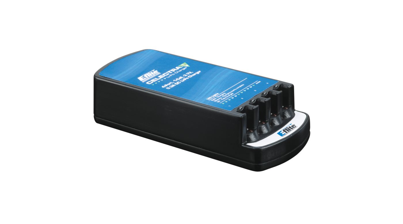 Image for Celectra 4-Port 1S 3.7V 0.3A DC Li-Po Charger from HorizonHobby
