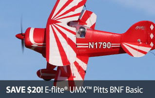 E-flite UMX Pitts BIPE BiPlane BNF
