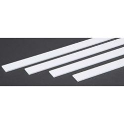 """Evergreen 385 Opaque Styrene Strips .100"""" Thick 24"""" Long .750"""" Wide pkg 4 269-385"""