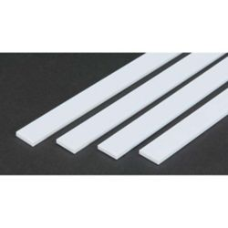 """Evergreen 394 Opaque Styrene Strips .125"""" Thick 24"""" Long .625"""" Wide pkg 4 269-394"""