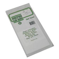 """Evergreen 9006 Styrene Sheet Clear 6 x 12"""" 15.2 x 30.5cm .010"""" .03cm pkg 2 269-9006"""