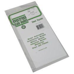 """Evergreen 9020 Styrene Sheet Plain 6 x 12"""" 15.2 x 30.5cm .020"""" .05cm pkg 3 269-9020"""
