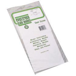 """Evergreen 9030 Styrene Sheet Plain 6 x 12"""" .030"""" Pkg 2"""