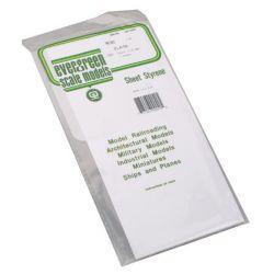 """Evergreen 9040 Styrene Sheet Plain 6 x 12"""" 15.2 x 30.5cm .040"""" .10cm pkg 2 269-9040"""