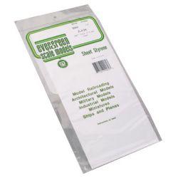 """Evergreen 9060 Styrene Sheet Plain 6 x 12"""" 15.2 x 30.5cm .060"""" .15cm 269-9060"""