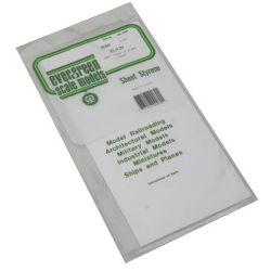 """Evergreen 9080 Styrene Sheet Plain 6 x 12"""" 15.2 x 30.5cm .080"""" .20cm 269-9080"""